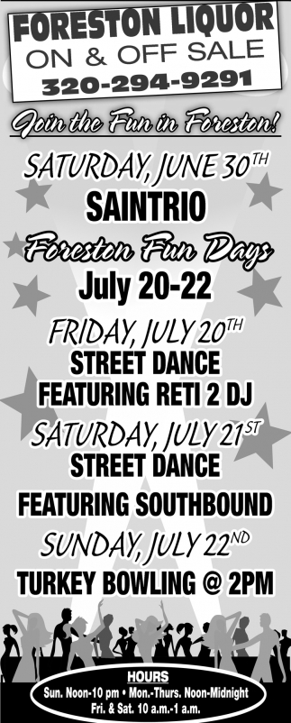 Join the Fun in Foreston