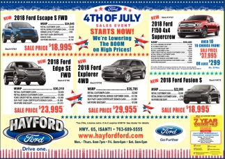 4th of July Sales Event Starts Now!