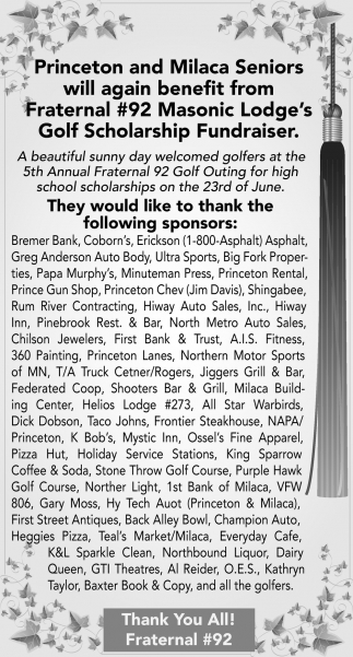 Thank the Following Sponsors
