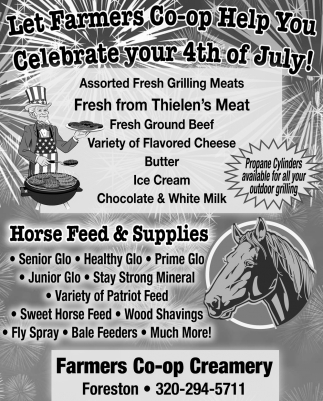 Let Farmers Co-Op Help You Celebrate Your 4th of July
