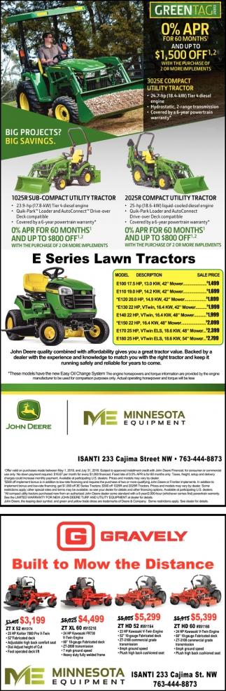 E Series Lawn Tractors