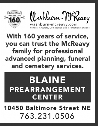 Washburn-McReavy - Blaine Prearrangement Center