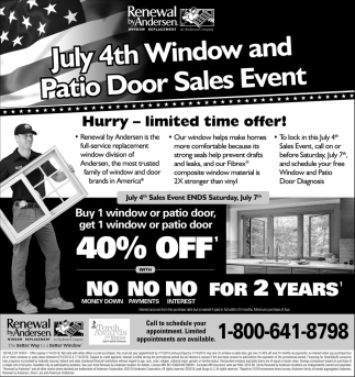 July 4th Window and Patio Door Sales Event