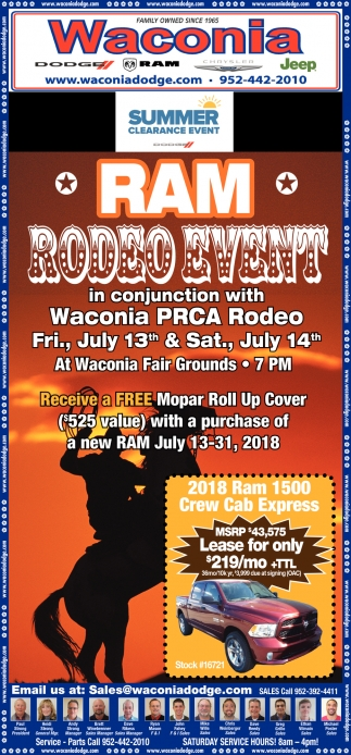 RAM Rodeo Event in Conjuction with Waconia PRCA Rodeo