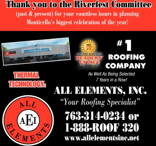 Thank You to the Riverfest Committee
