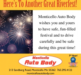 Auto Here's to Another Great Riverfest!