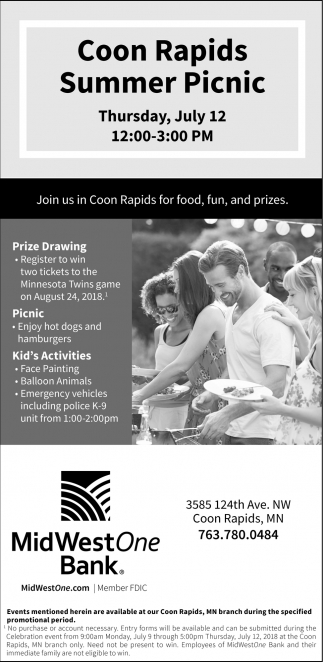 Coon Rapids Summer Picnic