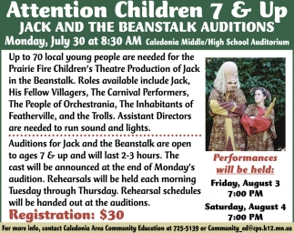 Jack and the Beanstalk Auditions