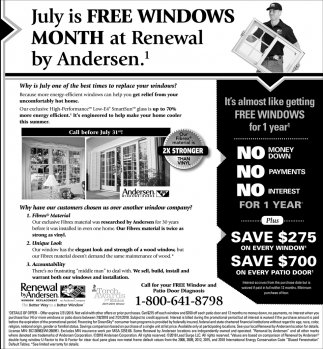 July is FREE Window Month at Renewal by Andersen