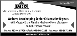 We Have Been Helping Senior Citizens for 90 Years