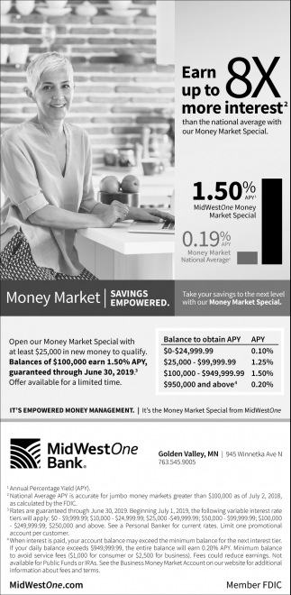 Take Your Savings to the Next Level with Our Money Market Special