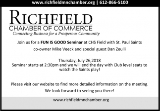 Join us for a Fun is Good Seminar