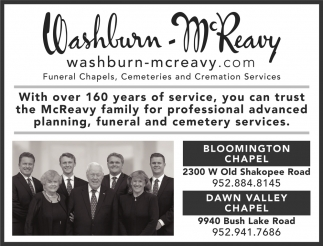 Washburn-McReavy - Bloomington & Dawn Valley Chapel