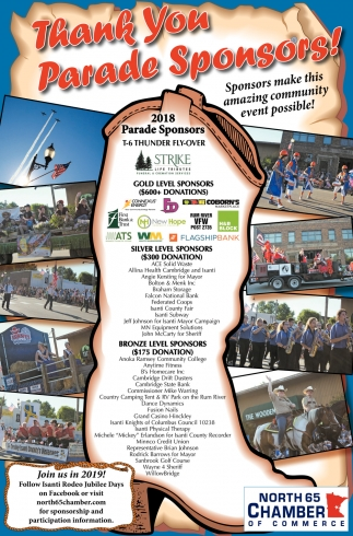Thank You Parade Sponsors!