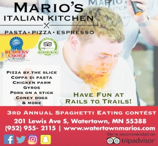 Have Fun At Rails To Trails Mario S Italian Kitchen Watertown Mn