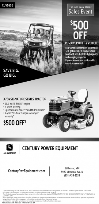 The John Deere Classic Sales Event