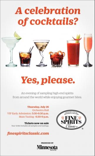 A Celebration of Cocktails?