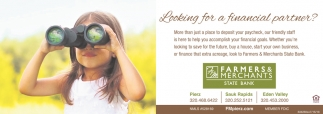 Looking for a Financial Partner?