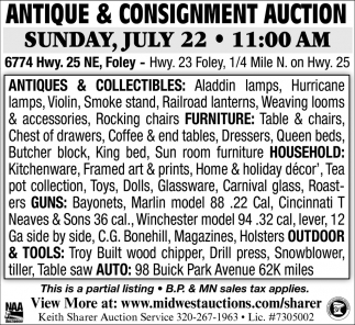 Antique & Consignment Auction