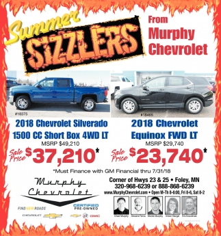 Summer Sizzlers from Murphy Chevrolet