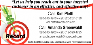 Let us Help You Reach out to Your Targeted Customer in an Effective, Cost-Effective Way!