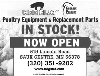 Poultry Equipment & Replacement Parts, Hog Slat, Sauk Centre, MN