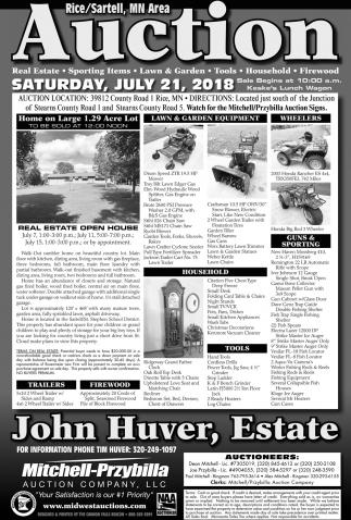 John Huver, Estate