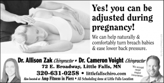 You Can be Adjusted During Pregnancy!