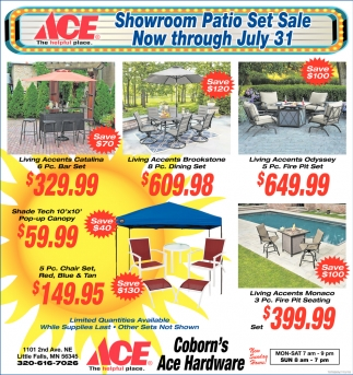 Showroom Patio Set Sale
