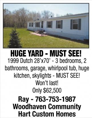 Huge Yard - Must See!
