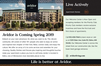 Life is Better at Avidor