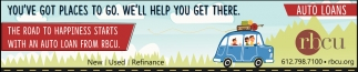 The Road to Happiness Starts with an Auto Loan from RBCU