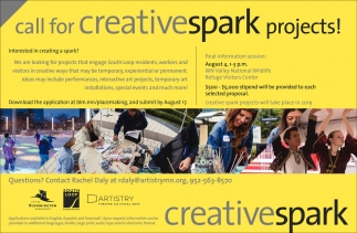 Call for Creativespark Projects!