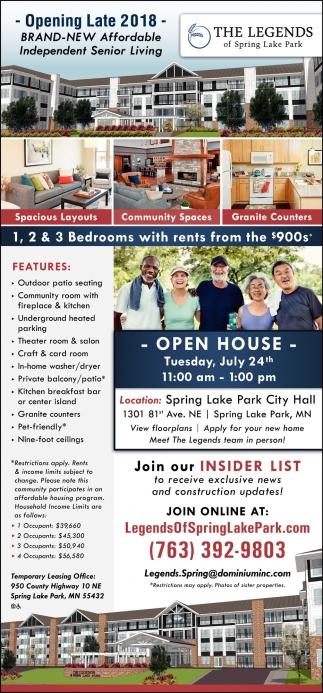 Brand-New Affordable Independent Senior Living