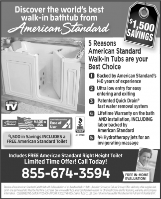 Discover the World\'s Best Walk-in Bathtub from American Standard ...