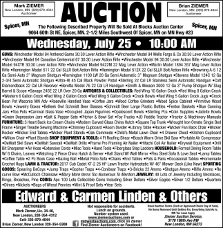Auction Wednesday July 25