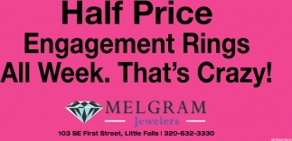 Half Price Engagement Rings All Week