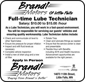 Full-Time Technician