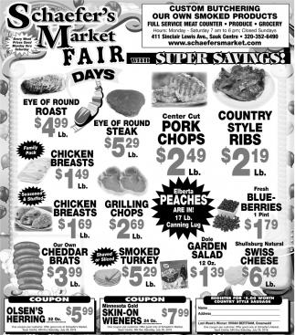 Fair Days with Super Savings