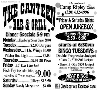 The Canteen Bar & Grill, The Canteen Bar & Grill, Little Falls, MN