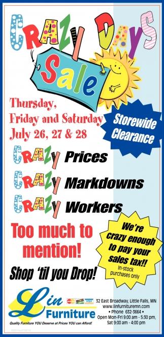 Crazy Days Sale