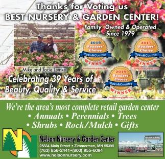 Thanks for Voting us Best Nursery & Garden Center!