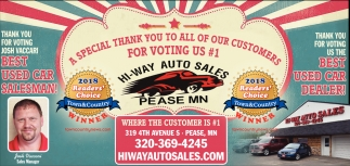A Special Thank You to All of Our Customers for Voting us #1