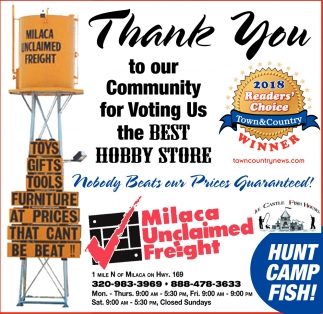 Thank You to Our Community for Voting us the Best Hobby Store