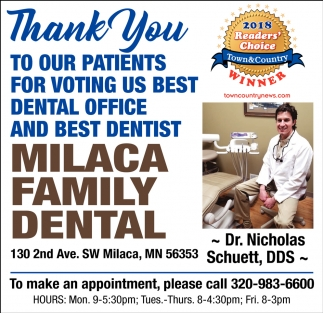 Thank You to Our Patients for Voting us Best Dental Office and Best Dentist
