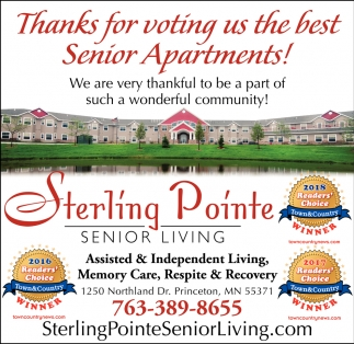 Thanks for Voting us the Best Senior Apartments
