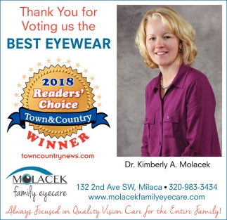 Thank You for Voting us the Best Eyewear