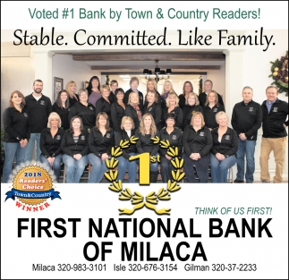 Voted #1 Bank by Town & Country Readers!
