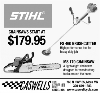 Chainsaws Starts at $179.95