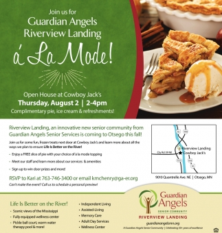 Join us for Guardian Angels Riverview Landing á La Mode!